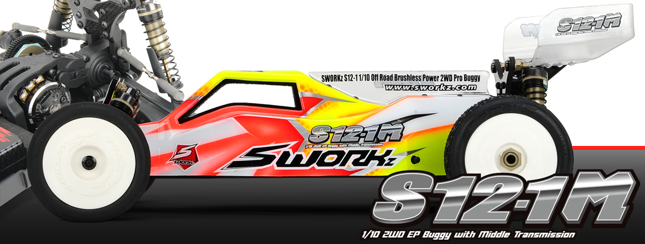 SWORKz S12-1M(Carpet Edition) 1/10 2WD EP Off Road Racing Buggy Pro Kit