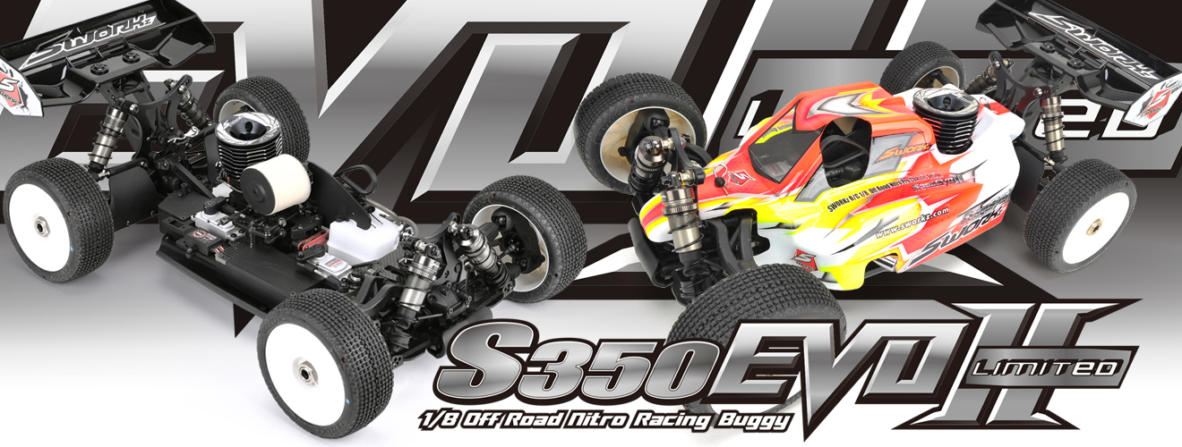 SWORKz S350 EVO II Limited Edition 1/8 Pro Buggy Kit