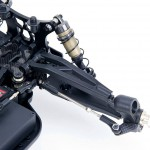 Adjustable front upper and lower suspension arm system.